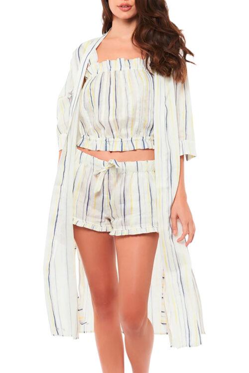 Sophie Ink Stripes Robe