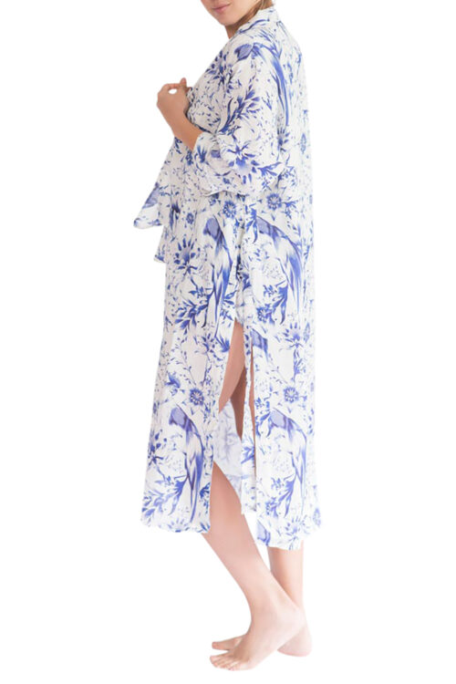 Sophie Tropical Paradise Blue Robe