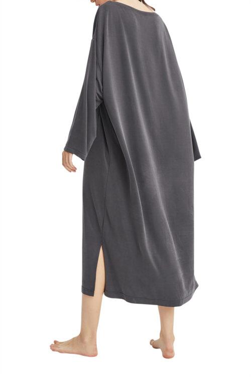 T-Shirt Tunic Dress - Charcoal, OS