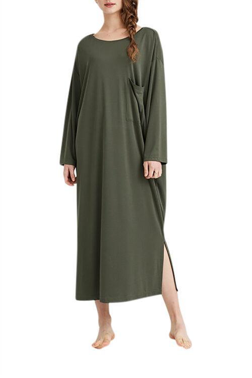 T-Shirt Tunic Dress - Pine, OS