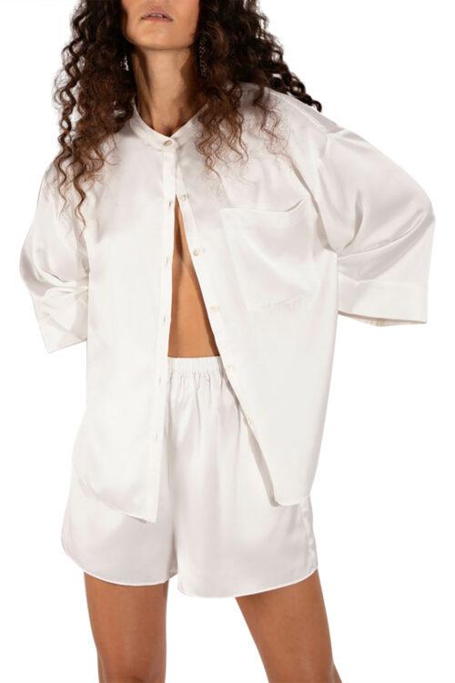 Andrea Satin Shirt
