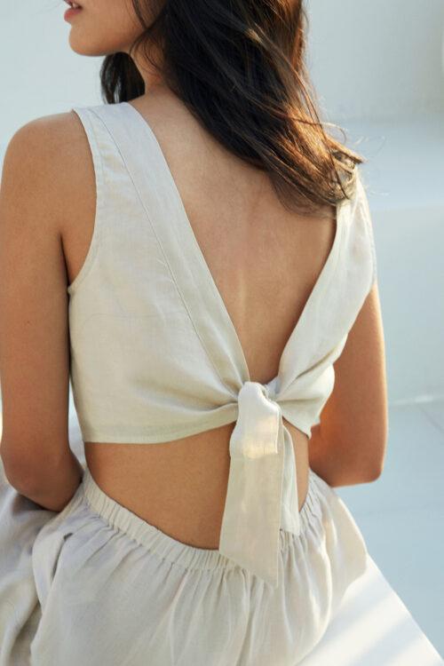 Megan Linen Crop Top