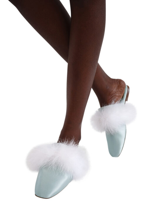 Manon Mules with Detachable Feathers