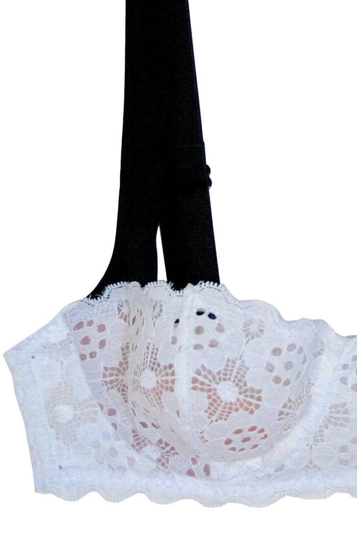 Crochet Lace Balconette Bra