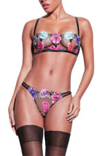 Monet Embroidered Cheeky Brief
